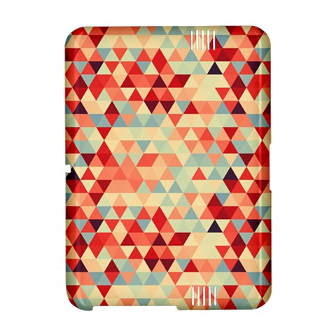 Modern Hipster Triangle Pattern Red Blue Beige Amazon Kindle Fire (2012) Hardshell Case