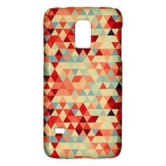 Modern Hipster Triangle Pattern Red Blue Beige Galaxy S5 Mini