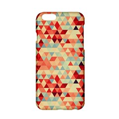 Modern Hipster Triangle Pattern Red Blue Beige Apple Iphone 6/6s Hardshell Case