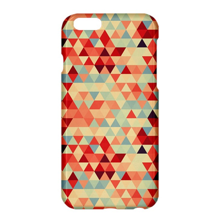 Modern Hipster Triangle Pattern Red Blue Beige Apple iPhone 6 Plus/6S Plus Hardshell Case