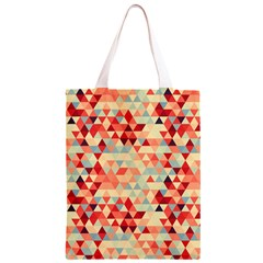 Modern Hipster Triangle Pattern Red Blue Beige Classic Light Tote Bag