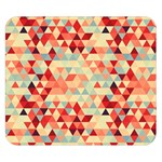 Modern Hipster Triangle Pattern Red Blue Beige Double Sided Flano Blanket (Small)  50 x40 Blanket Front