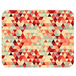 Modern Hipster Triangle Pattern Red Blue Beige Double Sided Flano Blanket (Medium)  60 x50 Blanket Front