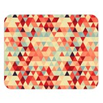 Modern Hipster Triangle Pattern Red Blue Beige Double Sided Flano Blanket (Large)  80 x60 Blanket Front
