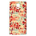 Modern Hipster Triangle Pattern Red Blue Beige Galaxy Note 4 Back Case Front