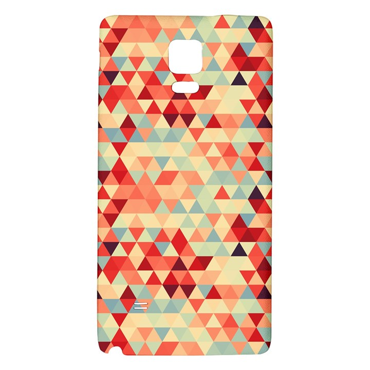Modern Hipster Triangle Pattern Red Blue Beige Galaxy Note 4 Back Case