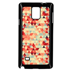 Modern Hipster Triangle Pattern Red Blue Beige Samsung Galaxy Note 4 Case (black)