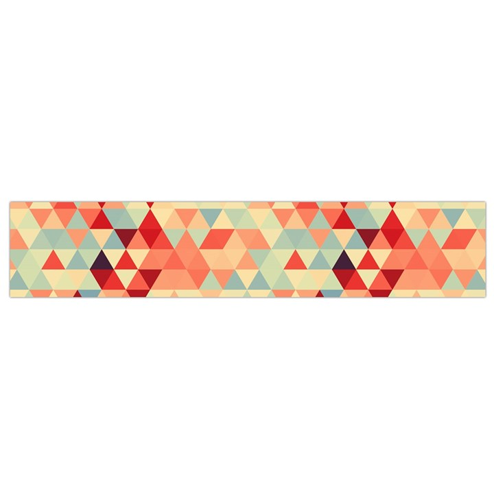 Modern Hipster Triangle Pattern Red Blue Beige Flano Scarf (Small)