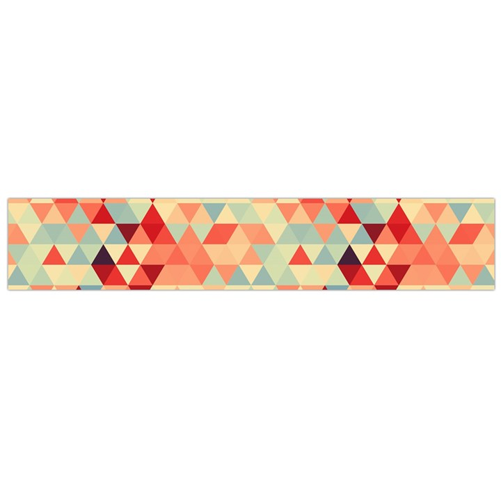 Modern Hipster Triangle Pattern Red Blue Beige Flano Scarf (Large)