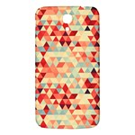 Modern Hipster Triangle Pattern Red Blue Beige Samsung Galaxy Mega I9200 Hardshell Back Case Front