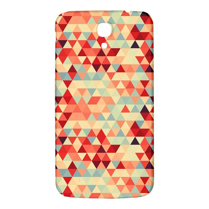 Modern Hipster Triangle Pattern Red Blue Beige Samsung Galaxy Mega I9200 Hardshell Back Case