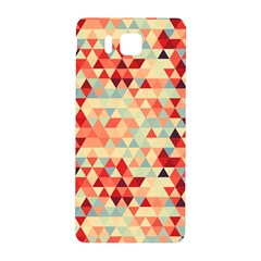 Modern Hipster Triangle Pattern Red Blue Beige Samsung Galaxy Alpha Hardshell Back Case