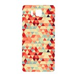Modern Hipster Triangle Pattern Red Blue Beige Samsung Galaxy Alpha Hardshell Back Case Front
