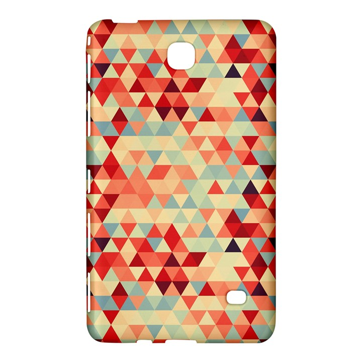 Modern Hipster Triangle Pattern Red Blue Beige Samsung Galaxy Tab 4 (7 ) Hardshell Case