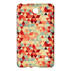 Modern Hipster Triangle Pattern Red Blue Beige Samsung Galaxy Tab 4 (8 ) Hardshell Case