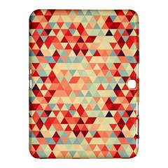 Modern Hipster Triangle Pattern Red Blue Beige Samsung Galaxy Tab 4 (10.1 ) Hardshell Case