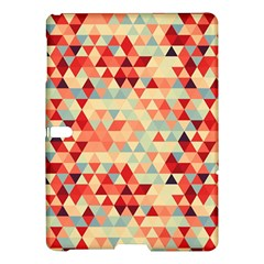 Modern Hipster Triangle Pattern Red Blue Beige Samsung Galaxy Tab S (10 5 ) Hardshell Case