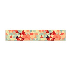 Modern Hipster Triangle Pattern Red Blue Beige Flano Scarf (mini)