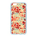 Modern Hipster Triangle Pattern Red Blue Beige Apple Seamless iPhone 6/6S Case (Color) Front