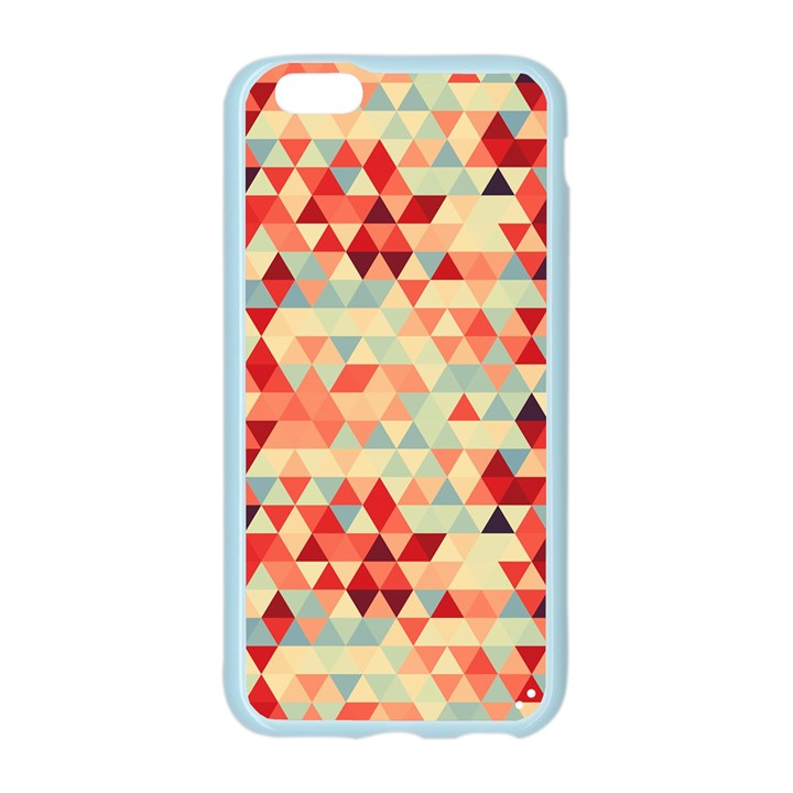 Modern Hipster Triangle Pattern Red Blue Beige Apple Seamless iPhone 6/6S Case (Color)