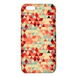 Modern Hipster Triangle Pattern Red Blue Beige iPhone 6/6S TPU Case Front