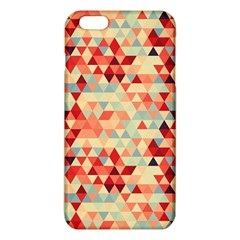 Modern Hipster Triangle Pattern Red Blue Beige Iphone 6 Plus/6s Plus Tpu Case