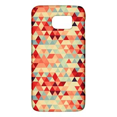 Modern Hipster Triangle Pattern Red Blue Beige Galaxy S6