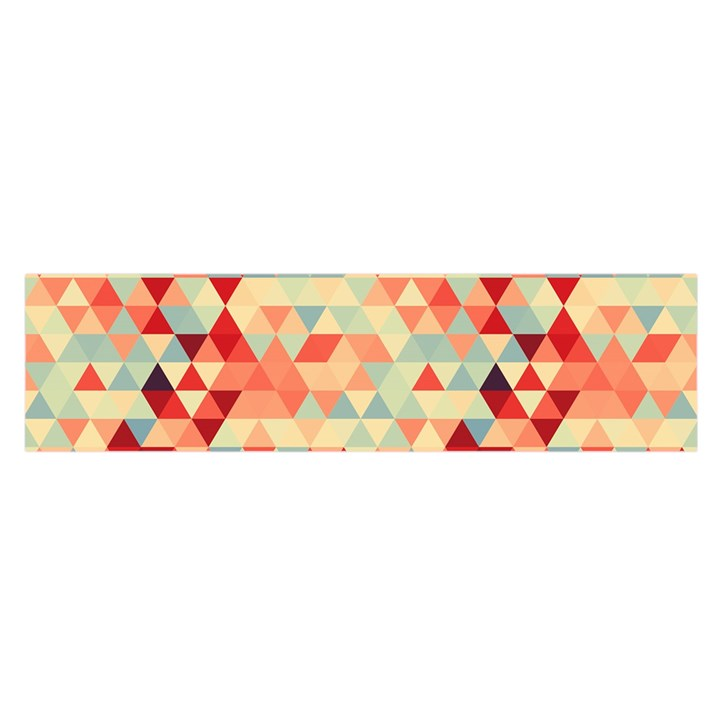 Modern Hipster Triangle Pattern Red Blue Beige Satin Scarf (Oblong)