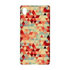 Modern Hipster Triangle Pattern Red Blue Beige Sony Xperia Z3+