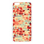 Modern Hipster Triangle Pattern Red Blue Beige Apple Seamless iPhone 6 Plus/6S Plus Case (Transparent) Front