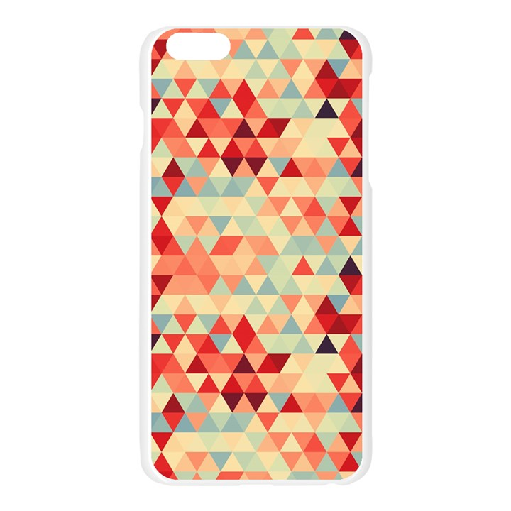 Modern Hipster Triangle Pattern Red Blue Beige Apple Seamless iPhone 6 Plus/6S Plus Case (Transparent)