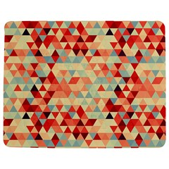 Modern Hipster Triangle Pattern Red Blue Beige Jigsaw Puzzle Photo Stand (rectangular)