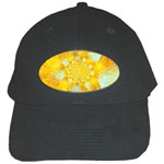 Gold Blue Abstract Blossom Black Cap Front