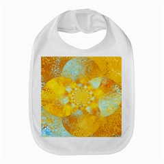 Gold Blue Abstract Blossom Bib