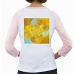 Gold Blue Abstract Blossom Girly Raglans Back