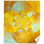 Gold Blue Abstract Blossom Canvas 8  x 10  10.02 x8 Canvas - 1
