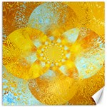 Gold Blue Abstract Blossom Canvas 16  x 16   16 x16 Canvas - 1