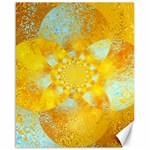 Gold Blue Abstract Blossom Canvas 16  x 20   20 x16 Canvas - 1
