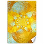 Gold Blue Abstract Blossom Canvas 20  x 30   30 x20 Canvas - 1