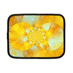 Gold Blue Abstract Blossom Netbook Case (Small)  Front