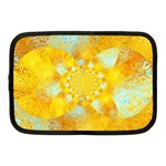 Gold Blue Abstract Blossom Netbook Case (Medium)  Front