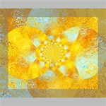 Gold Blue Abstract Blossom Canvas 10  x 8  10  x 8  x 0.875  Stretched Canvas