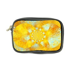 Gold Blue Abstract Blossom Coin Purse
