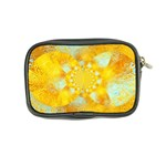 Gold Blue Abstract Blossom Coin Purse Back