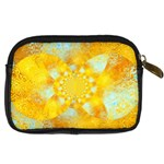 Gold Blue Abstract Blossom Digital Camera Cases Back