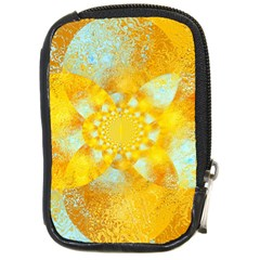 Gold Blue Abstract Blossom Compact Camera Cases