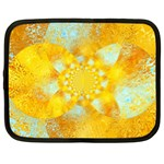 Gold Blue Abstract Blossom Netbook Case (XXL)  Front