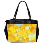 Gold Blue Abstract Blossom Office Handbags (2 Sides)  Back