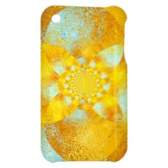 Gold Blue Abstract Blossom Apple iPhone 3G/3GS Hardshell Case