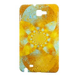 Gold Blue Abstract Blossom Samsung Galaxy Note 1 Hardshell Case